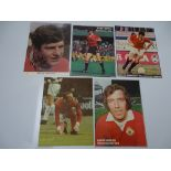 AUTOGRAPHS: 1960S /1980S FOOTBALLERS - MANCHESTER UNITED FOOTBALL CLUB: A selection of 5 autographed
