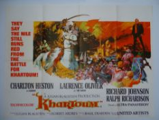 "KHARTOUM (1966) - UK Quad Film Poster - 30"" x 40"" (76 x 101.5 cm) - Folded"