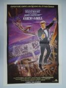 JAMES BOND: A pair of movie posters: AVIEW TO A KILL (1985) UK One Sheet poster and GOLDENEYE (1996)