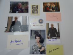 AUTOGRAPHS: JAMES BOND: HEAD OFFICE / SECRET SERVICE STAFF: A group of autographs - mainly signed