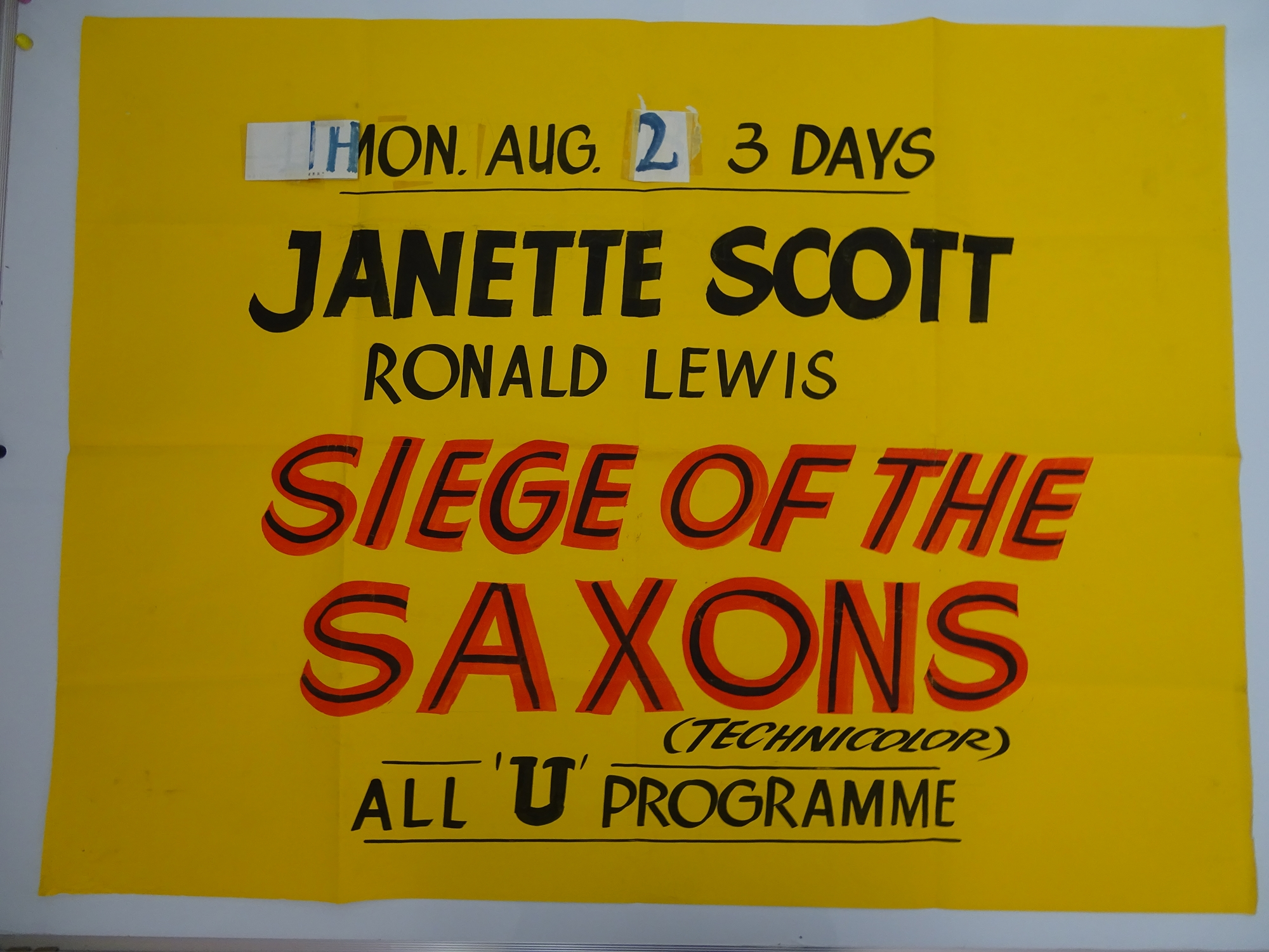 A selection of hand written - British UK Quad film posters - an important part of film history - - Image 8 of 9