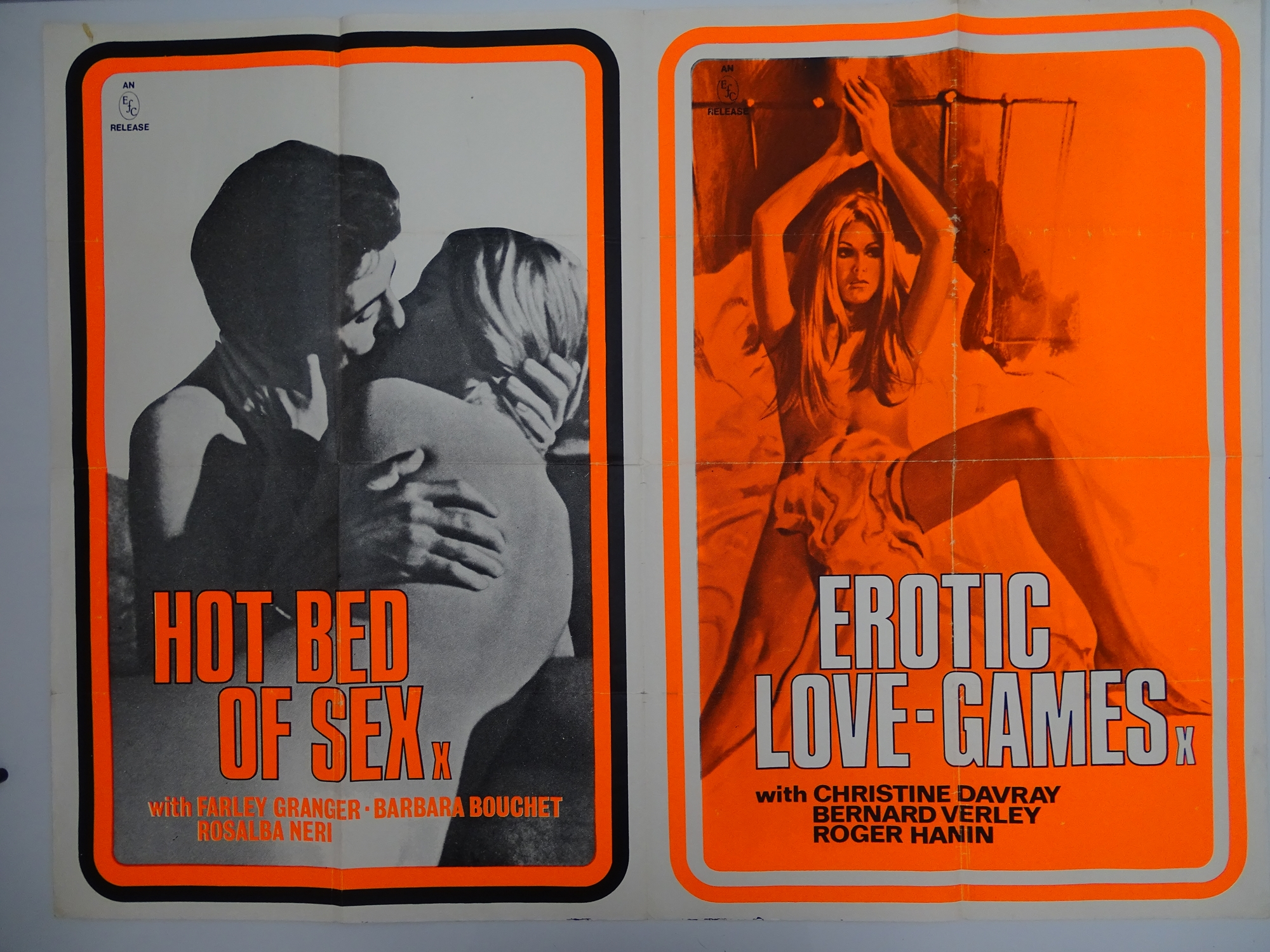 Selection of UK Quad Film Posters: GYMSLIP LOVERS / TEENAGE HITCH HIKERS; NAUGHTY NURSES / SEX - Image 2 of 10
