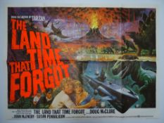 "THE LAND THAT TIME FORGOT (1975) - Artwork by Tom Chantrell British UK Quad Film Poster - 30"" x"