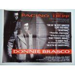 "DONNIE BRASCO (1997) - AL PACINO and JOHNNY DEPP - British UK Quad film poster 30"" x 40"" (76 x 101.5"