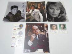 AUTOGRAPHS: JAMES BOND: A group of autographs OCTOPUSSY - mainly signed photographs to include: MAUD