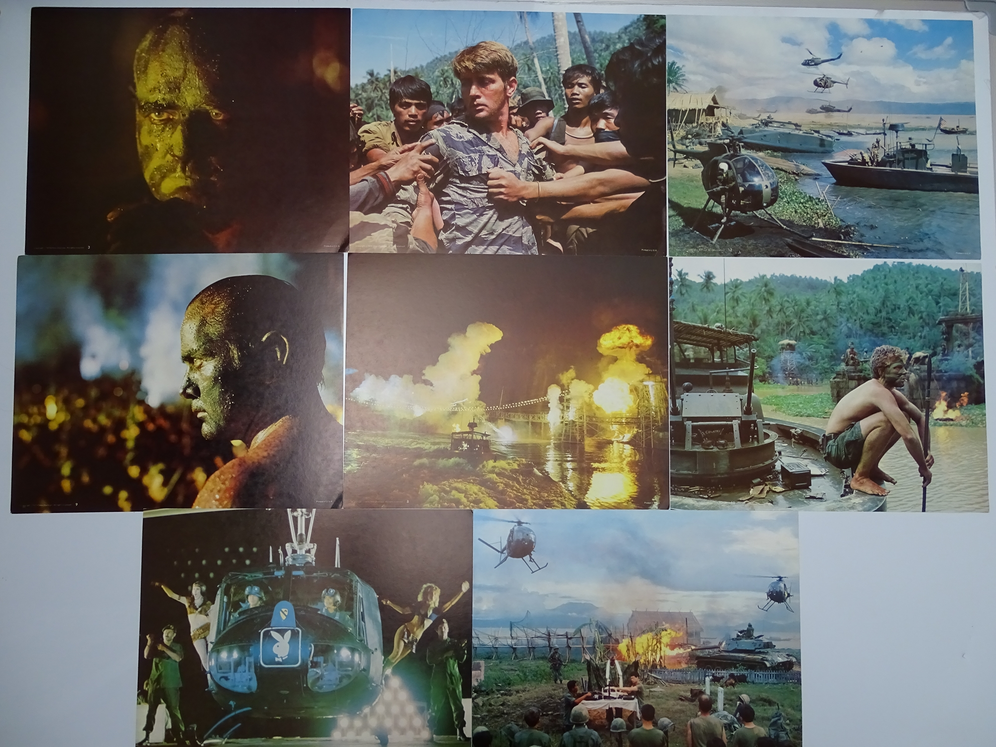 APOCALYPSE NOW (1979) - 16 colour US Movie Stills - Flat as issued