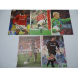 AUTOGRAPHS: 1990S/2000S FOOTBALLERS - MANCHESTER UNITED FOOTBALL CLUB: A selection of 5