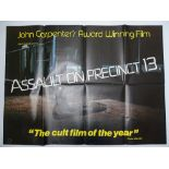 ASSAULT ON PRECINCT 13 (1978 - First year of British release) - British UK Quad - JOHN CARPENTER -
