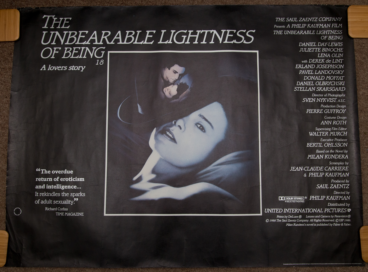 Group of mixed 1990s UK Quad Film Posters to include: THE UNBEARABLE LIGHTNESS OF BEING (1988); - Image 10 of 11