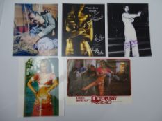 JAMES BOND: AUTOGRAPHS: JOIE VEJJAJIVA; KRISTINA WAYBORN (x2); HONOR BLACKMAN and a multi signed