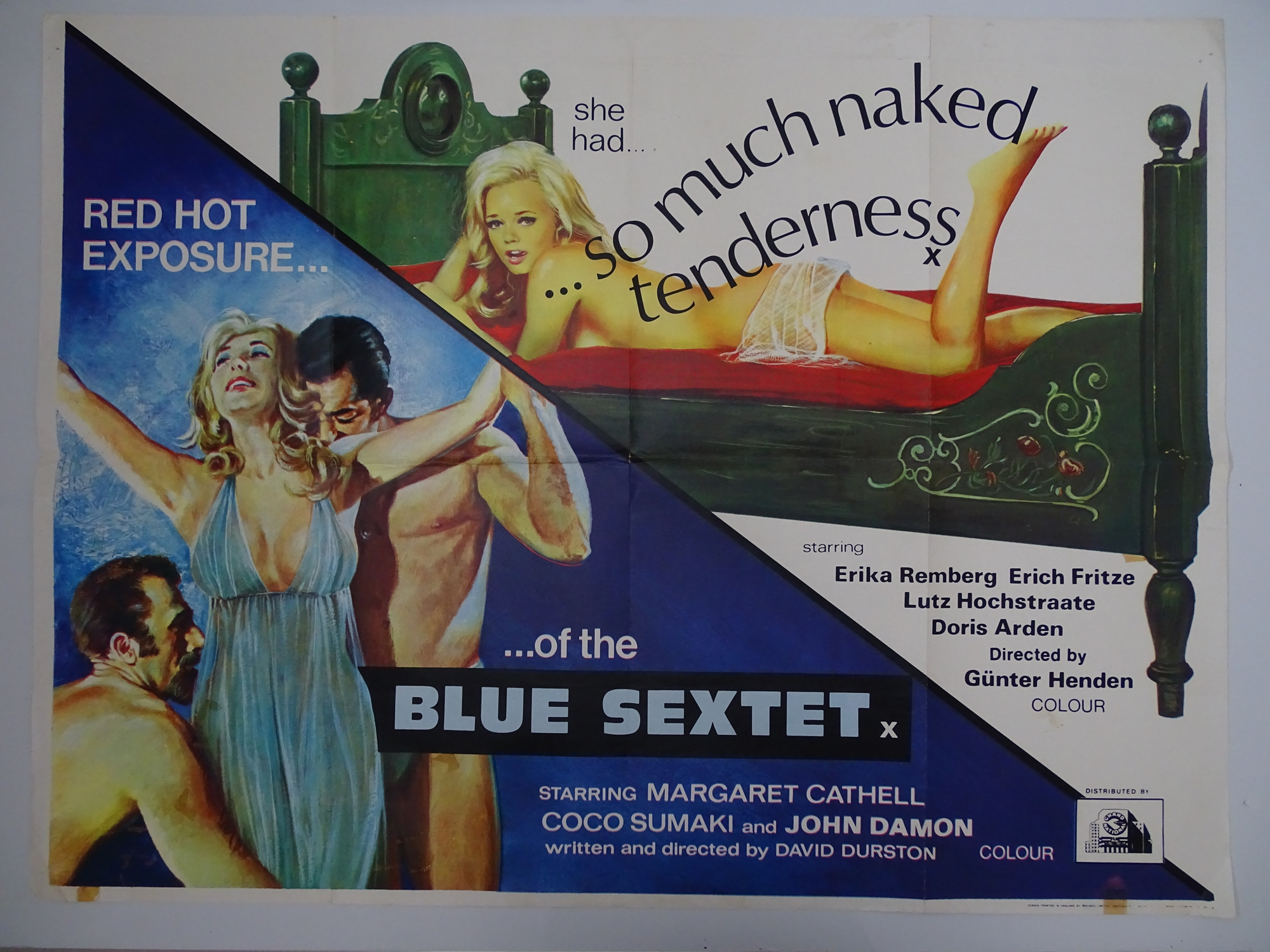 Selection of UK Quad Film Posters: GYMSLIP LOVERS / TEENAGE HITCH HIKERS; NAUGHTY NURSES / SEX - Image 4 of 10