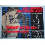 Group of 1950s UK Quad Film Posters: SUBWAY IN THE SKY (1959); SEA DEVILS (I953); THE LAW