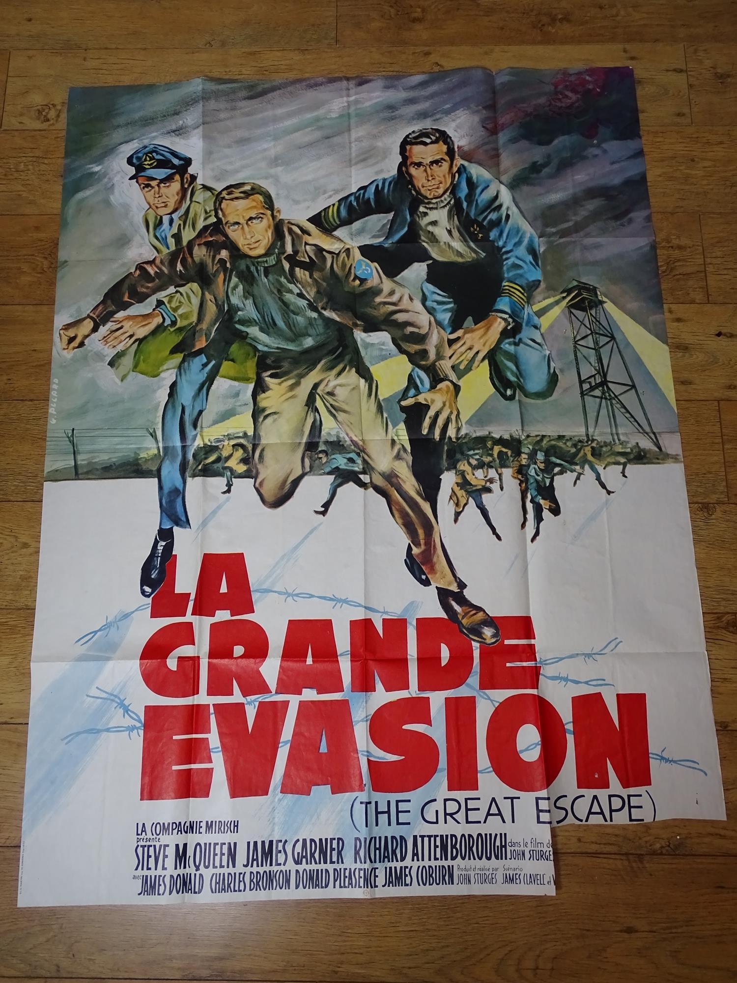 """LA GRANDE EVASION (THE GREAT ESCAPE) - French 'Grande' Affiche movie poster 46"""" x 63"""" (117 x 160 cm)"""