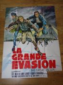 "LA GRANDE EVASION (THE GREAT ESCAPE) - French 'Grande' Affiche movie poster 46"" x 63"" (117 x 160 cm)"