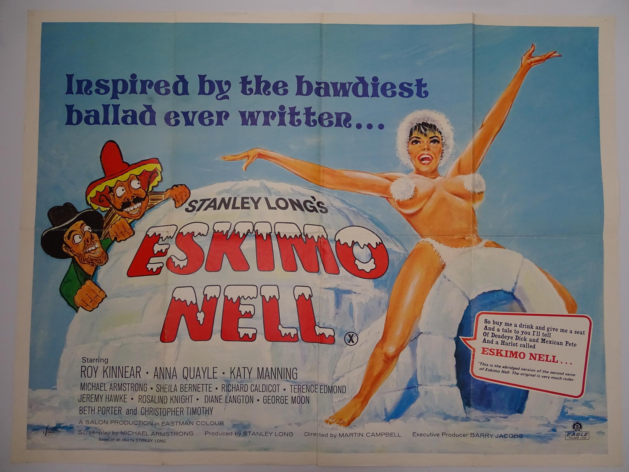 "ESKIMO NELL (1975) - British UK Quad film poster (30"" x 40"" - 76 x 101.5 cm) - Folded (as issued)"