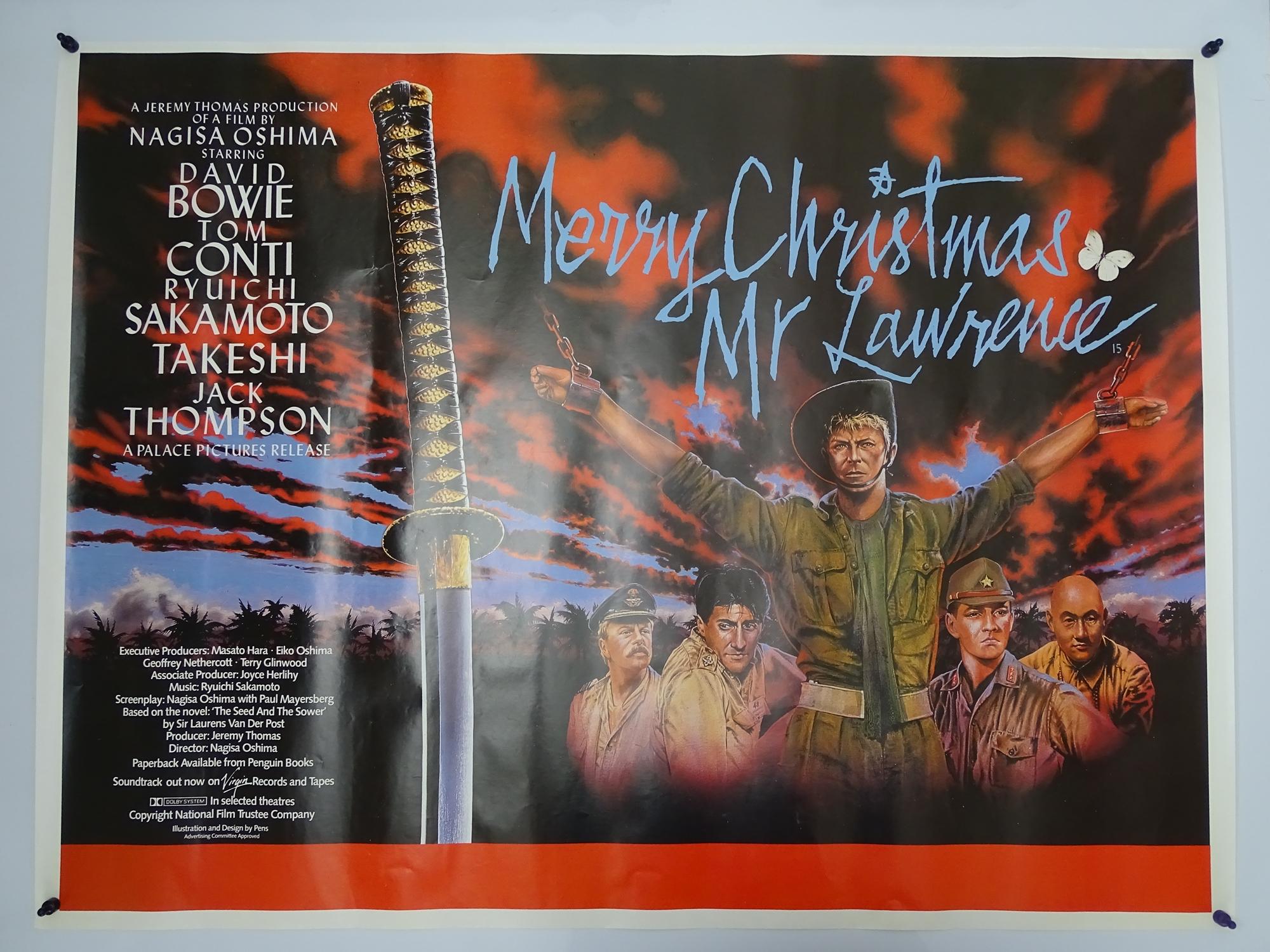 "MERRY CHRISTMAS MR. LAWRENCE (1983) - British UK Quad film poster - DAVID BOWIE - 30"" x 40"" (76 x"