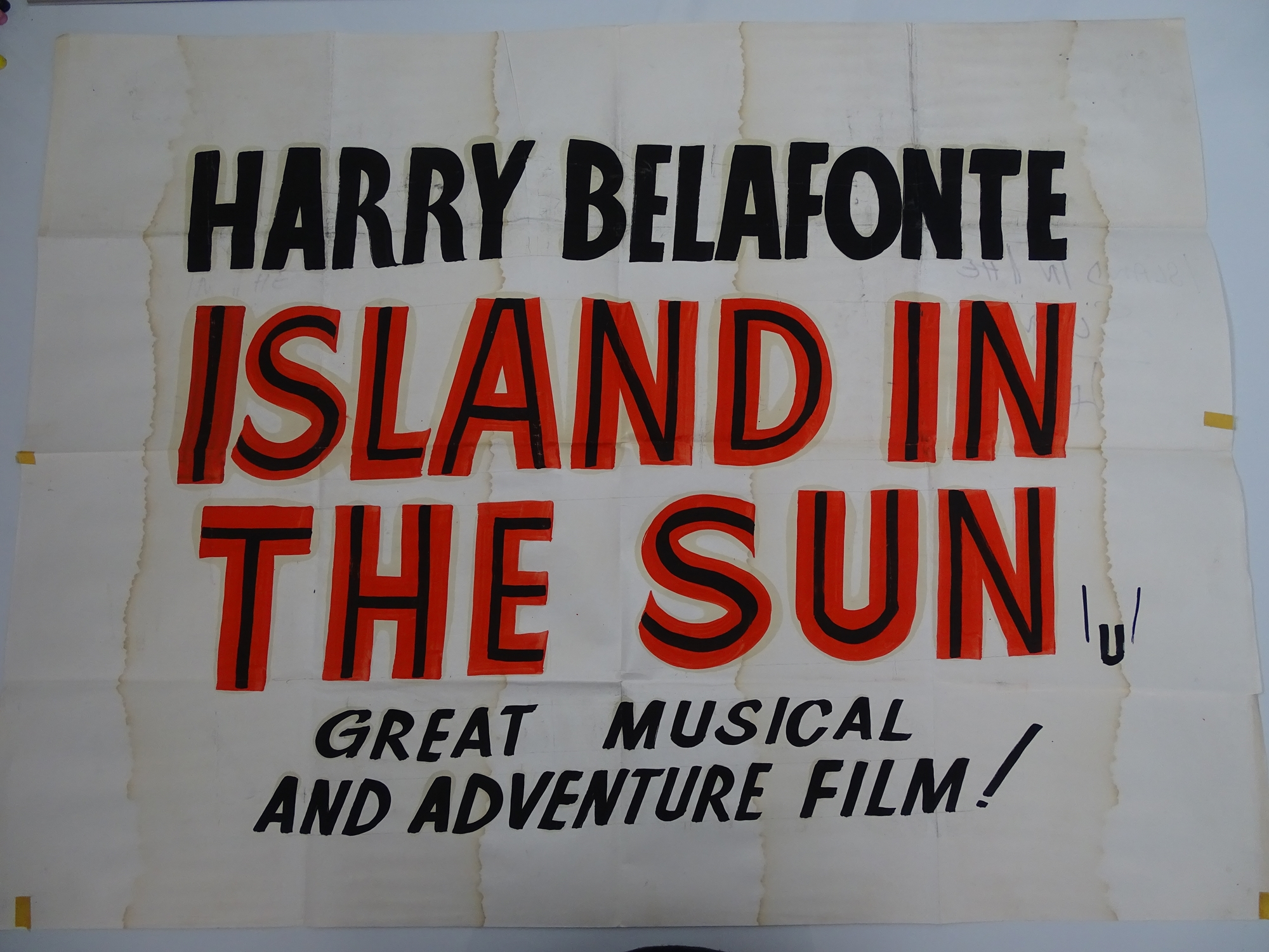 A selection of hand written - British UK Quad film posters - an important part of film history - - Image 6 of 9