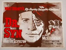 "DR SYN (1963) (alias the Scarecrow) - re release UK Quad (30"" x 40"" - 76 x 101.5 cm) - Folded - Very"