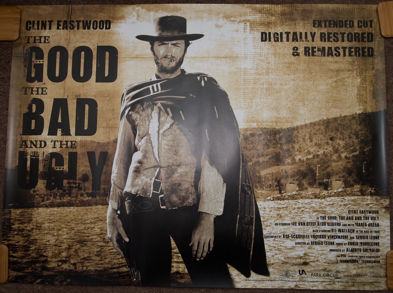THE GOOD, THE BAD & THE UGLY (2008 Release) - UK Quad Film Poster - Park Circus Release - Unique