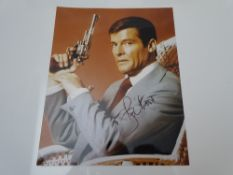AUTOGRAPHS: ROGER MOORE: - Signed photograph - has been independently verified and comes with an