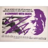 A COVENANT WITH DEATH (1967) - UK Quad Film Poster and UK Front of House Set