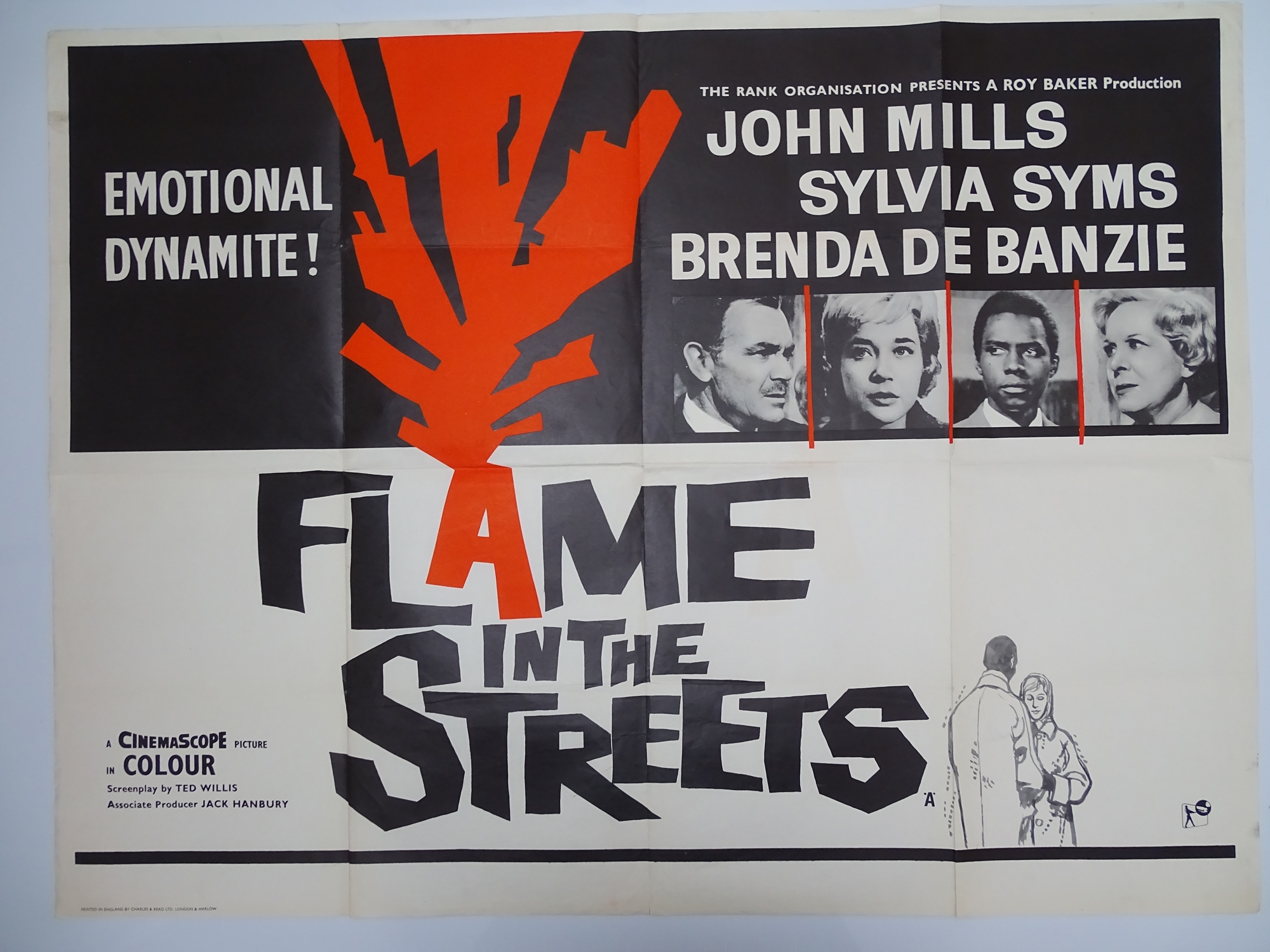 Group of mixed UK Quad Film Posters: To include: THE ATOMIC KID (MICKEY ROONEY) (1955) ; ) ; FLAME - Image 2 of 8