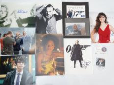 AUTOGRAPHS: JAMES BOND: SKYFALL and SPECTRE: A group of autographs - mainly signed photographs to