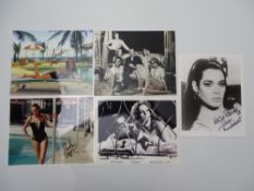 JAMES BOND: AUTOGRAPHS: THUNDERBALL 'girls' - MARTINE BESWICK; CLAUDINE AUGER (X 2); LUCIANA PALUZZI