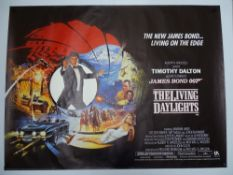 JAMES BOND: THE LIVING DAYLIGHTS (1987) - UK Quad Film Poster - Featuring Brian Bysouth artwork: The