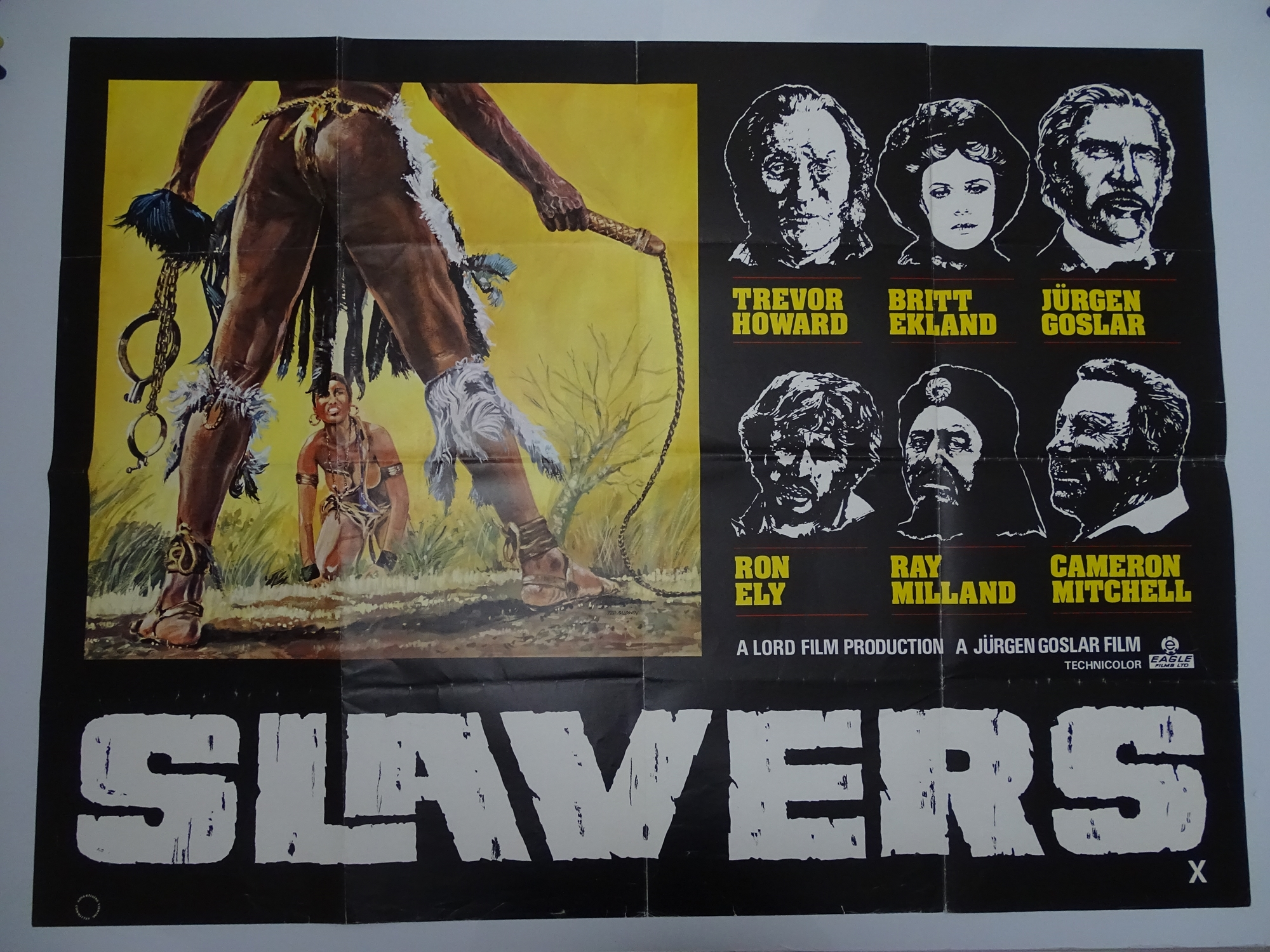 Group of 1970s/80s - UK Quad Film Posters: ANDROID (1982); THE BROOD (1979); SLAVERS (1978); - Image 3 of 6