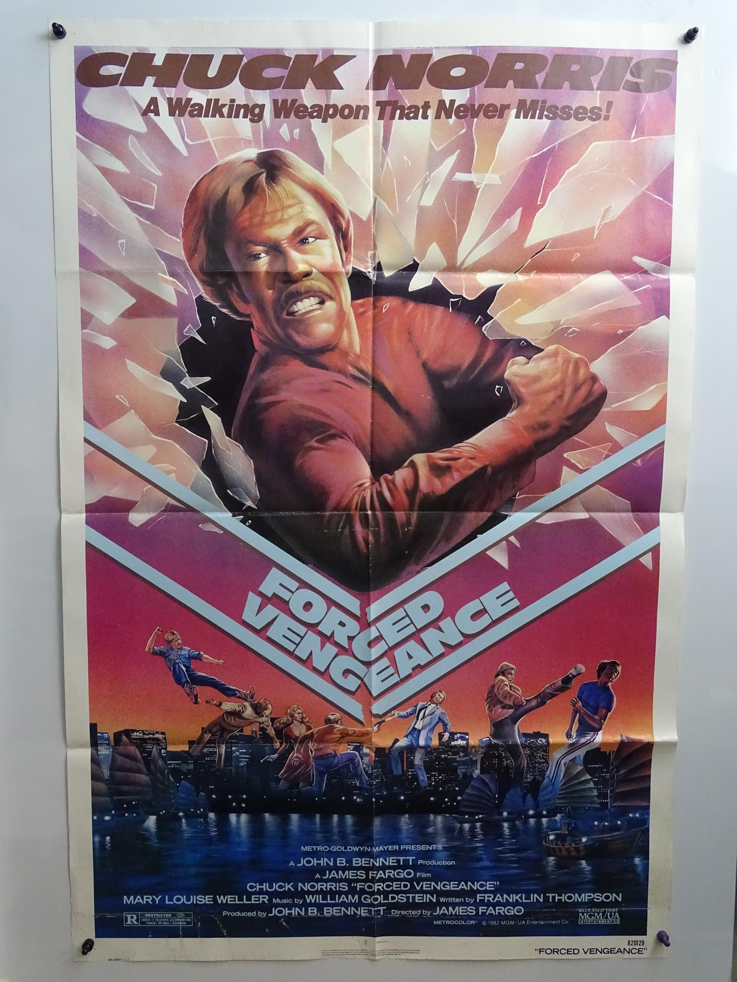 JOB LOT OF 15 X US ONE SHEET MOVIE POSTERS: FORCED VENGEANCE (1982); INVASION USA (1985); DEATH - Image 9 of 15