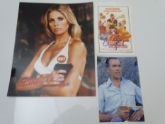 AUTOGRAPHS: JAMES BOND: CHRISTOPHER LEE and BRITT EKLAND - THE MAN WITH THE GOLDEN GUN - has been