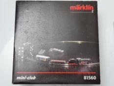 Z GAUGE MODEL RAILWAYS: A MARKLIN mini-club 81560 Train Set - comprising loco and wagons with