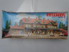 HO GAUGE MODEL RAILWAYS: A VOLLMER 3502 Moritzburg Station kit, unbuilt - as new internally - box