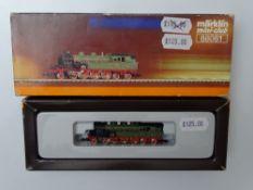 Z GAUGE MODEL RAILWAYS: A MARKLIN mini-club 88061 steam tank locomotive in K.W.St.E - VG/E in G box
