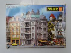 HO GAUGE MODEL RAILWAYS: A FALLER 130918 four storey townhouse kit, unbuilt - as new internally -