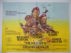 "WILD GEESE (1978) UK Quad film poster 30"" x 40"" (76 x 101.5 cm) - Folded"
