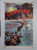 "DUNKIRK (1958) One Sheet Movie poster (27"" x 40"" – 68.5 x 101.5 cm) - Folded - some tape marks"