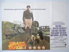 "BRASS TARGET (1978) UK Quad film poster 30"" x 40"" (76 x 101.5 cm) (30"" x 40"") featuring stunning"