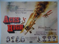"ACES HIGH (1976) UK Quad film poster 30"" x 40"" (76 x 101.5 cm) - Folded"