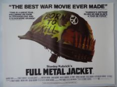"FULL METAL JACKET (1987) - STANLEY KUBRICK - British UK Quad film poster 30"" x 40"" (76 x 101.5 cm) -"