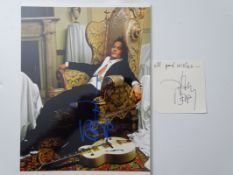 AUTOGRAPHS: A pair of JOHNNY DEPP autographs - these have been independently authenticated and