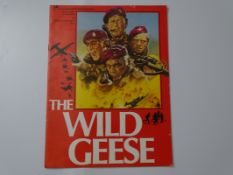 "A selection of WILD GEESE (1978) Film memorabilia to include: JOAN ARMATRADING 7"" Single, a 12"""