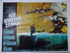 "ICE STATION ZEBRA (1968) - First release with full Bob MCCALL illustration UK Quad film poster 30"" x"