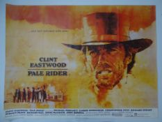 "PALE RIDER (1985) UK Quad film poster 30"" x 40"" (76 x 101.5 cm) - Folded"