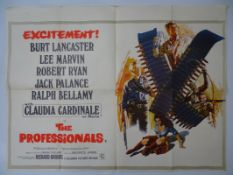 "THE PROFESSIONALS (1966) - British UK Quad film poster 30"" x 40"" (76 x 101.5 cm) - folded - fold"
