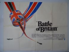 "BATTLE OF BRITAIN (1969) UK Quad film poster 30"" x 40"" (76 x 101.5 cm) (30"" x 40"")"