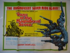 GUNS OF THE MAGNIFICENT SEVEN (1969) - All folds have been tape reinforced on the back, one small