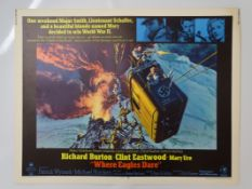 WHERE EAGLES DARE (1968) - US Half Sheet Movie Poster for the classic WW2 action adventure