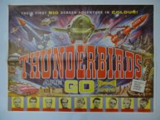 "THUNDERBIRDS ARE GO (1966) - Reproduction Commercial Poster (circa 1980) (37.5"" x 27.5"")"